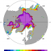 Arctic sea ice: NOAA OI