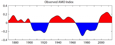 AMO index timeseries.