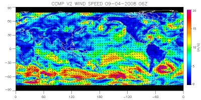 CCMP wind vector analysis (contributed by L. Ricciardulli)