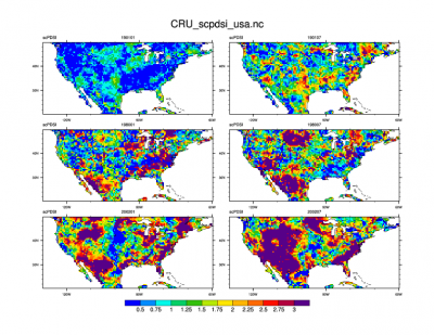 Climate Data Guide Image: CRU-sc PDSI USA