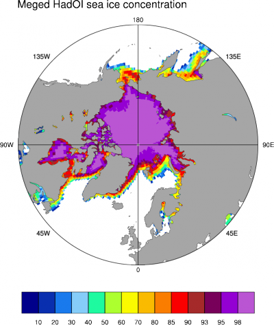 Sea ice concentration: Merged Had-OI
