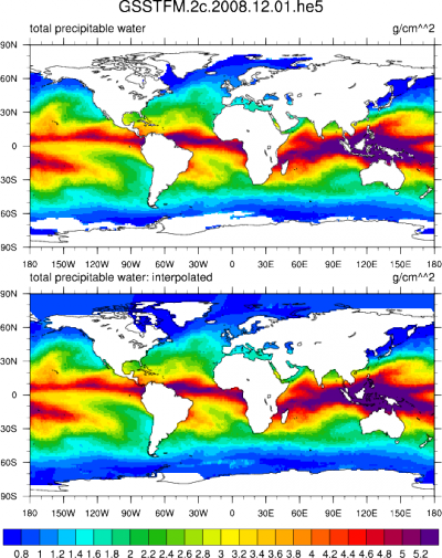 Climate Data Guide Image: GSSTF 2c: Total precipitable water
