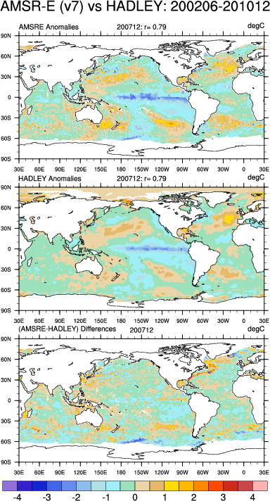 Climate Data Guide Image: AMSR-E & Hadley Centre