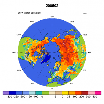 Climate Data Guide Image: Snow Water Climatology (NH)
