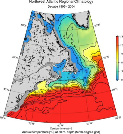 Northwest Atlantic regional Sea Water Temperature