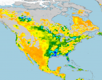 Map of root zone soil moisture for May 2016 based on the SMOS product (credit: ESA)