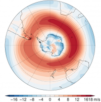 Annual mean 850hPa westerly wind component (contributed by T Bracegirdle)