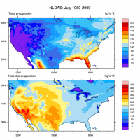 Climate Data Guide Image: NLDAS July 1980-2009 climatologies