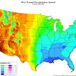 PRISM 30-year normal precipitation climatology