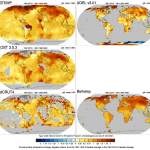 Change of surface temperatures in 5 global data sets. credit: NCAR, climatedataguide
