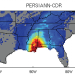 rainfall estimates during Hurican Katrina from PERSIANN-CDR (contributed by H. Ashouri)