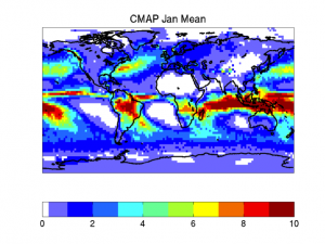 CMAP precipitation in January