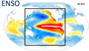 SST anomaly pattern associated with El Nino