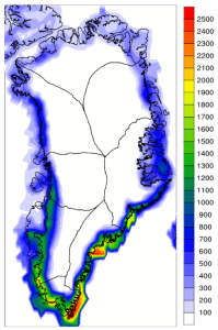 Greenland ice sheet runoff (contributed by R Cullather)