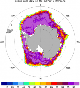 Arctic sea ice: Climate Data Record