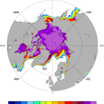 Artic sea ice: Eumetsat reprocessed.