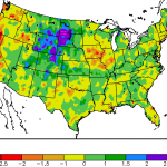 6-month SPI through January, 2014 capturing drought in California and heavy rains in the Front range of Colorado. Retrieved on 31 January 2014 at http://www.hprcc.unl.edu/maps/current/index.php?action=update_daterange&daterange=6m
